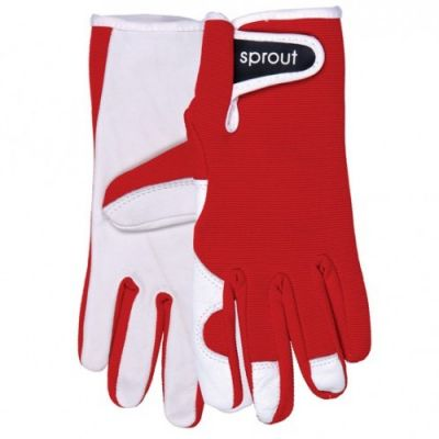 ladies gardening gloves red