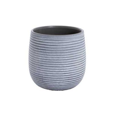 Ceramic Pot - dark grey