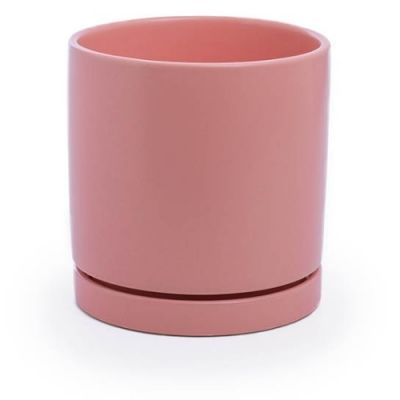 Loreto plant pot with saucer - Earth Red