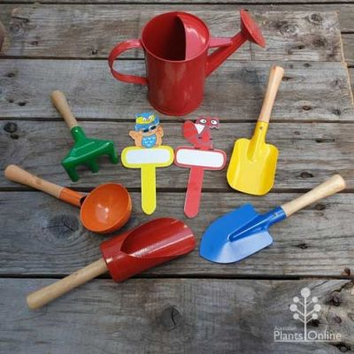 8 piece kids' tool set - red