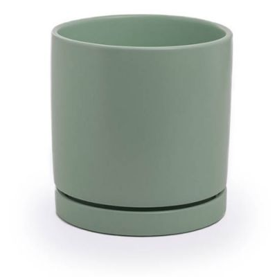 Loreto plant pot with saucer- Sea Foam