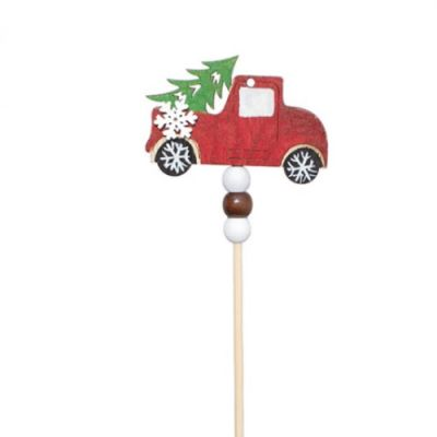 Wooden Car Picks - Pack of 4