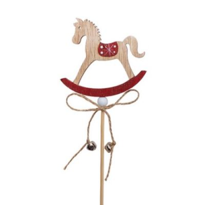 Wooden Rocking Horse Picks - Pack of 4